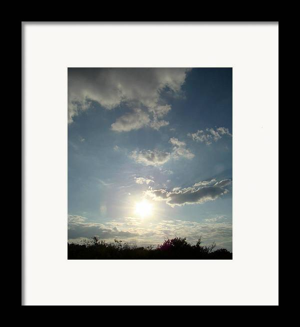 Landscape Framed Print featuring the photograph Hill Sky Two by Ana Villaronga
