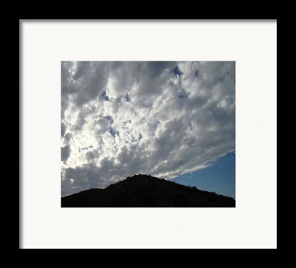 Landscape Framed Print featuring the photograph Hill-top One by Ana Villaronga