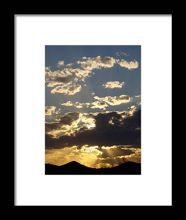 Sunset Framed Print featuring the photograph Hillcountry Sunset One by Ana Villaronga