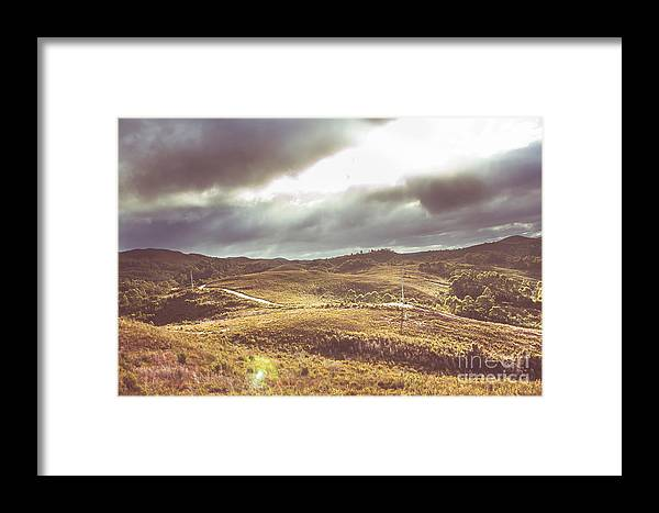 Outback Framed Print featuring the photograph Hills And Outback Tracks by Jorgo Photography - Wall Art Gallery