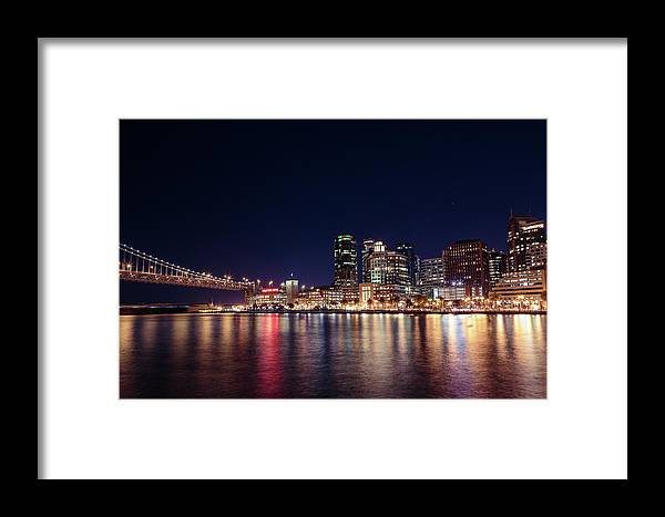 Long Exposure Framed Print featuring the photograph Hills Bros Coffee by Elizabeth Delgado