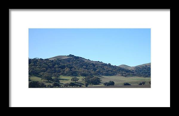 Oak Framed Print featuring the photograph Hills Of Oak by Jean Booth
