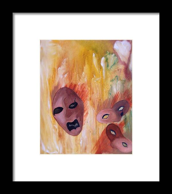 Abstract Framed Print featuring the print Hindsight by Beverly Baxter