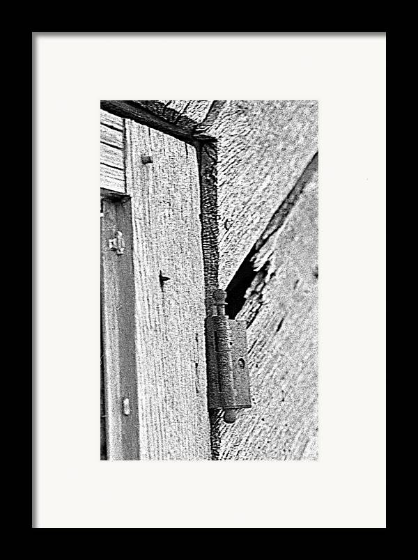Ansel Adams Framed Print featuring the photograph Hinge by Curtis J Neeley Jr