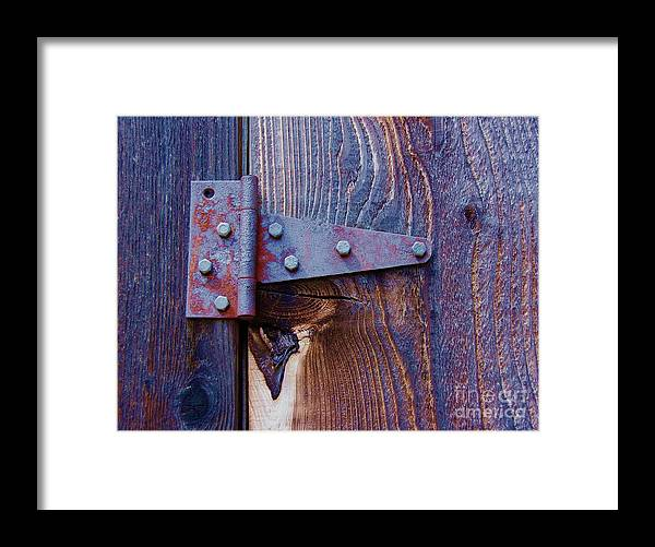 Hinge Framed Print featuring the photograph Hinged by Debbi Granruth