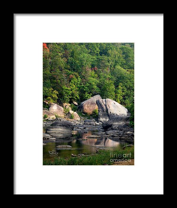 Cumberland Falls Framed Print featuring the photograph Hint Of Autumn by Beauty For God