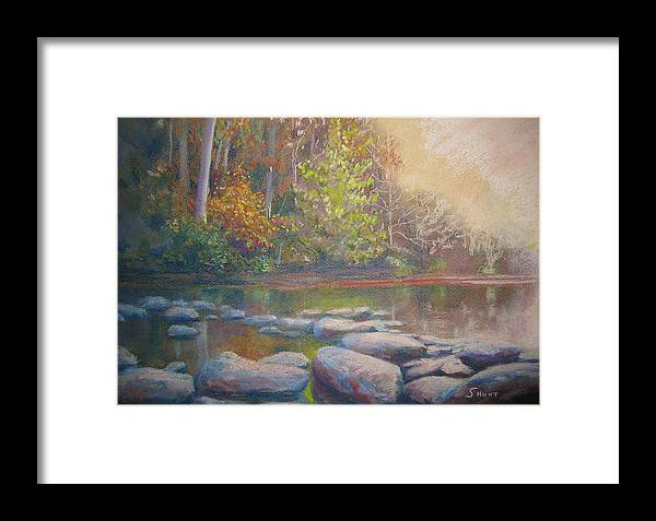 Fall Framed Print featuring the painting Hint Of Autumn by Shirley Braithwaite Hunt