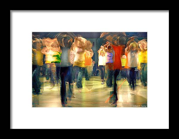 Hip Hop Framed Print featuring the photograph Hip Hop Dance Night by Robert Lacy