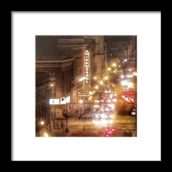 Life Framed Print featuring the photograph Hippodrome In Baltimore At Night by Marianna Mills