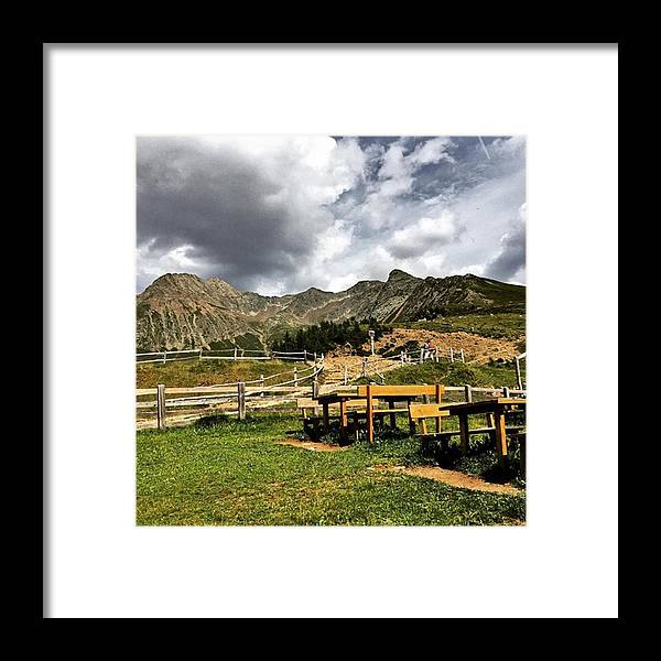 Alps Framed Print featuring the photograph #hirzer #altoadige #mountain #südtirol by Luisa Azzolini