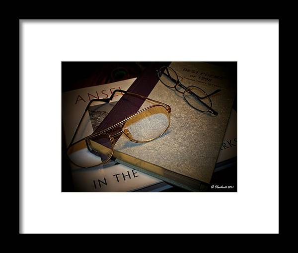 Eyeglasses Framed Print featuring the photograph His And Hers - A Still Life by Betty Northcutt