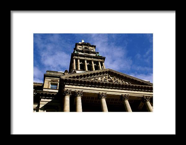 Detroit Framed Print featuring the photograph Historic Architecture by Sonja Anderson