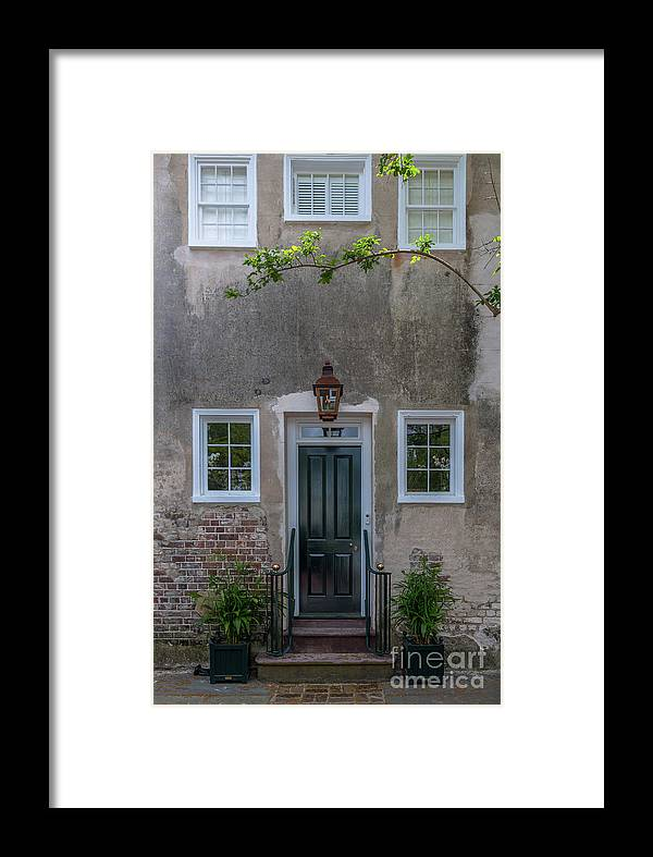 Entrance Framed Print featuring the photograph Historic Downtown Charleston Entrance by Dale Powell
