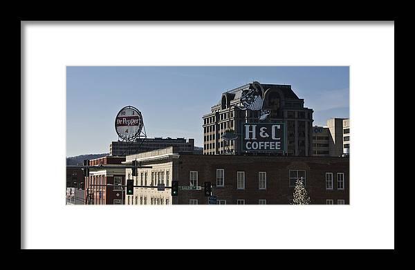Roanoke Framed Print featuring the photograph Historic Landmark Signs Roanoke Virginia by Teresa Mucha