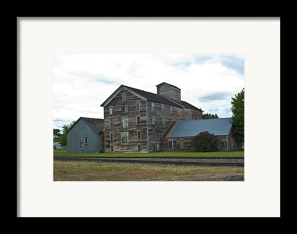 Historical Framed Print featuring the photograph Historical Barron Wheat Flour Mill In Oakesdale Wa by Louise Magno
