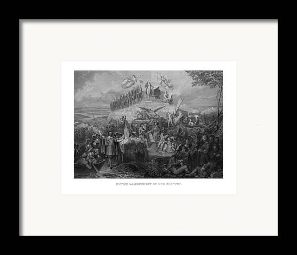 Us Presidents Framed Print featuring the drawing Historical Monument Of Our Country by War Is Hell Store