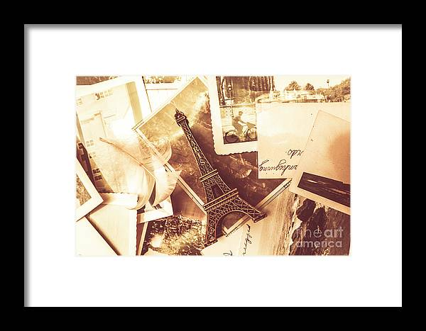 Love Framed Print featuring the photograph History And Sentiment Of Vintage Paris by Jorgo Photography - Wall Art Gallery