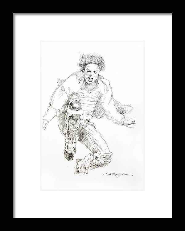 Michael Jackson Framed Print featuring the drawing HiStory Concert - Michael Jackson by David Lloyd Glover