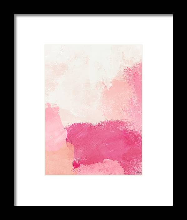 Abstract Framed Print featuring the mixed media History of Pink- Abstract Art by Linda Woods by Linda Woods
