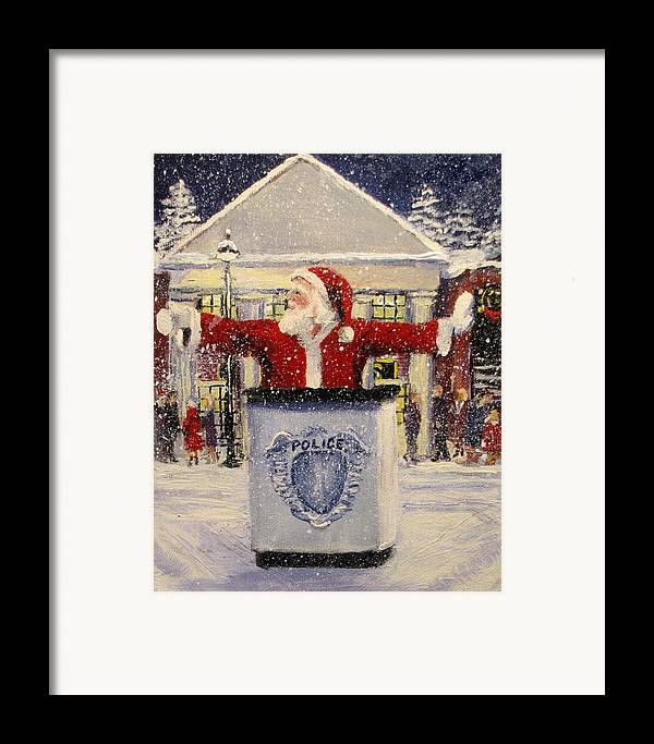 Santa Framed Print featuring the painting Ho Ho Go... by Jack Skinner