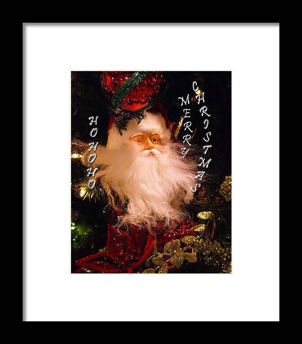 Card Framed Print featuring the painting Ho Ho Ho by Kim