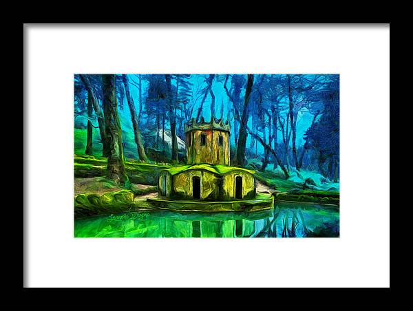 The Hobbit Framed Print featuring the painting Hobbit's Castle by Leonardo Digenio
