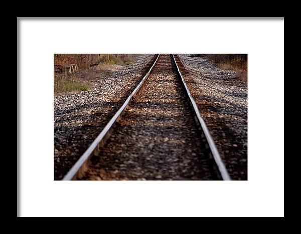 Railroad Framed Print featuring the photograph Hobo Highway by RonSher Brooks