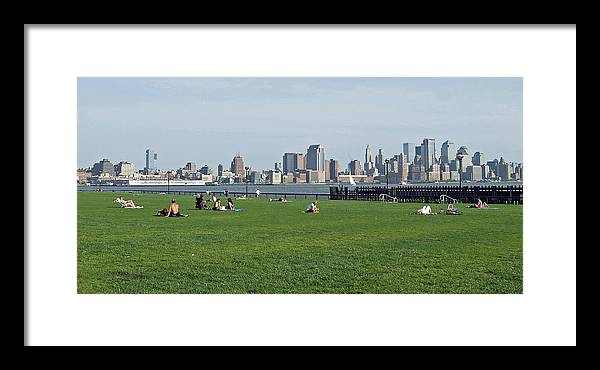 Park Framed Print featuring the photograph Hoboken Park by Frank Nicolato