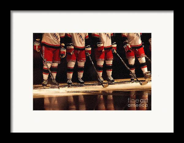 Hockey Framed Print featuring the photograph Hockey Reflection by Karol Livote