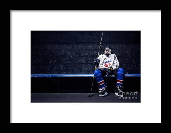 Kremsdorf Framed Print featuring the photograph Hockey Strong by Evelina Kremsdorf