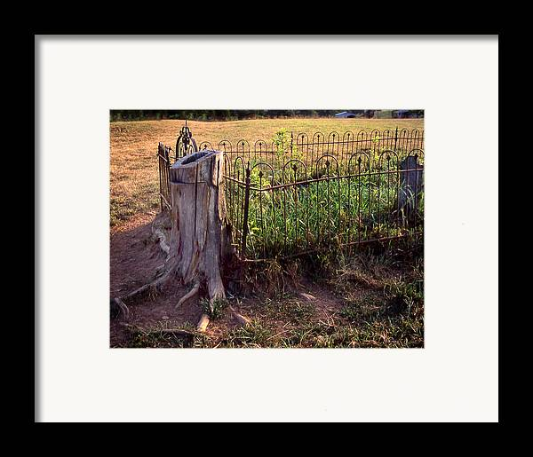 Framed Print featuring the photograph Hogeye Grave Site by Curtis J Neeley Jr