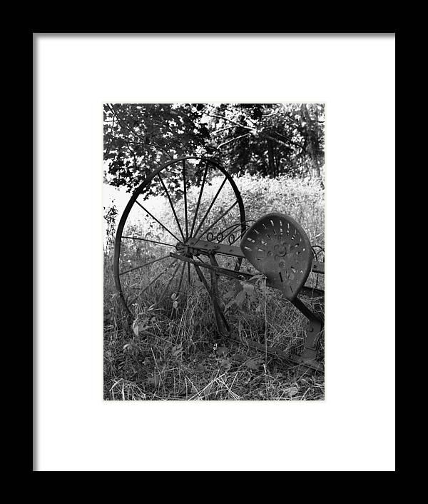 Ansel Adams Framed Print featuring the photograph Hogeye Hayrake by Curtis J Neeley Jr