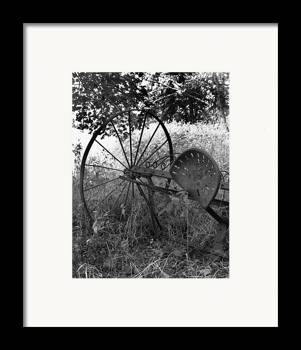 Ansel Adams Framed Print featuring the photograph Hogeye Hayrake by Curtis J Neeley Jr