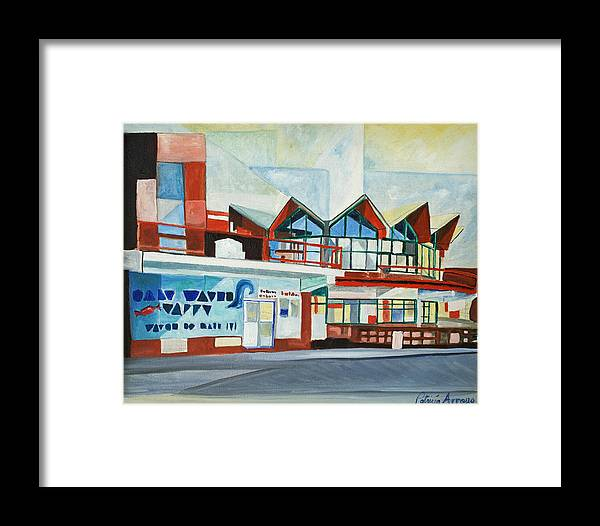Asbury Art Framed Print featuring the painting Hojo's Abstracted by Patricia Arroyo