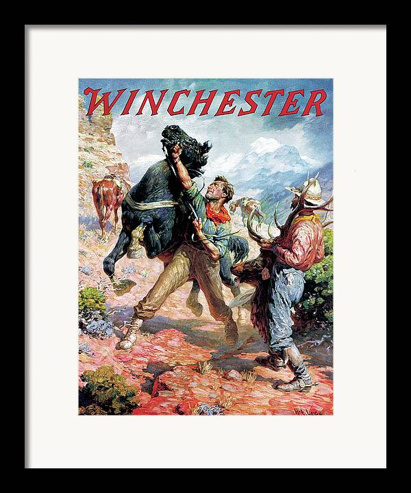 Cowboys Framed Print featuring the painting Hold Em Steady by W R Leigh