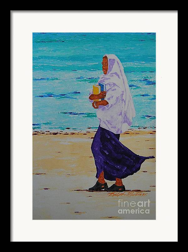 Water Framed Print featuring the painting Holding On To Dreams by Art Mantia