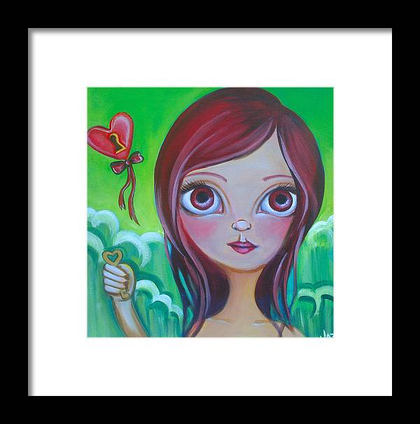 Pop Framed Print featuring the painting Holding The Key by Jaz Higgins