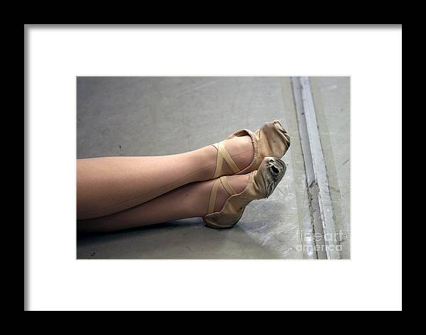 Dance Framed Print featuring the photograph Holes In Dance Shoes by Steve Augustin