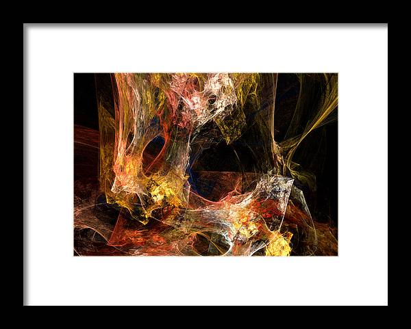 Abstract Framed Print featuring the digital art Holes by Ruth Palmer