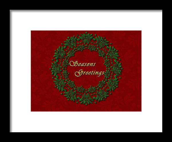 Christmas Framed Print featuring the painting Holiday Card by Jeannette Scranton