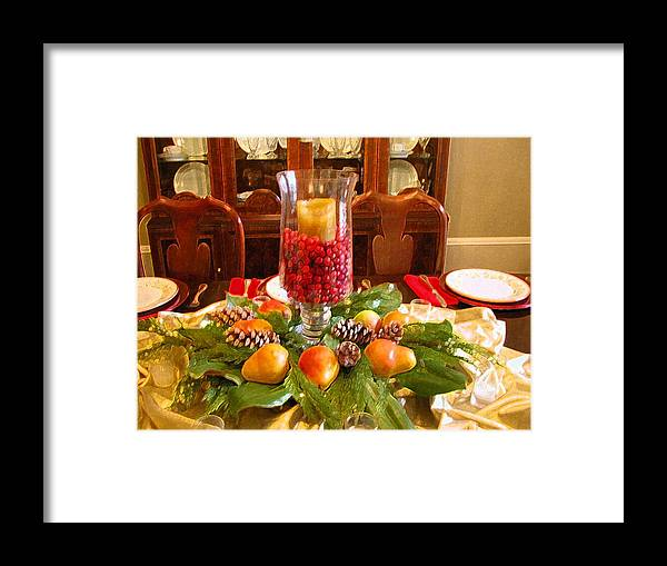 Dining Framed Print featuring the photograph Holiday by Michael Morrison