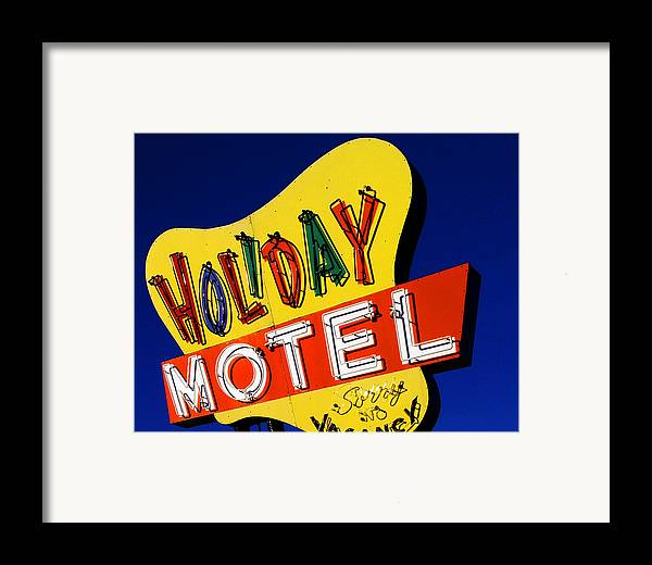Color Framed Print featuring the photograph Holiday Motel by Curtis Staiger