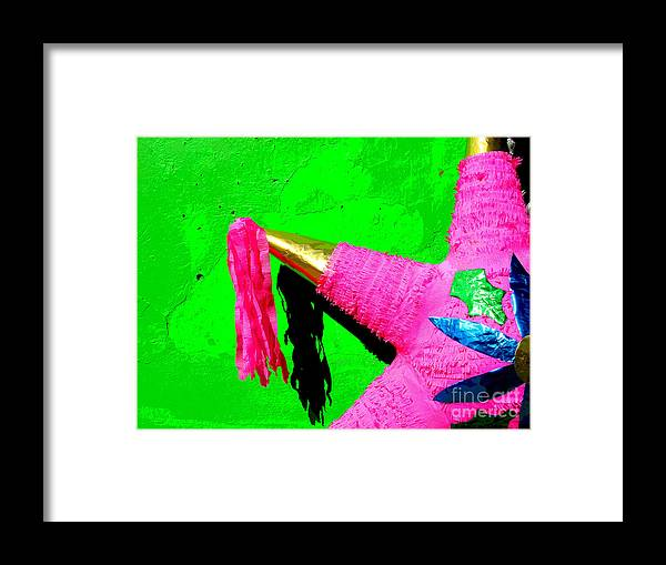 Darian Day Framed Print featuring the photograph Holiday Pinata By Darian Day by Mexicolors Art Photography