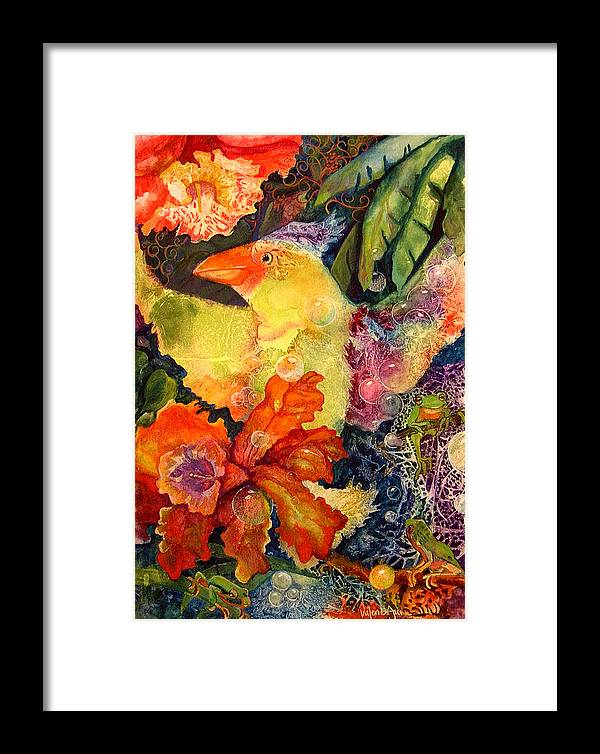 Bird Framed Print featuring the painting Holiday by Valerie Aune