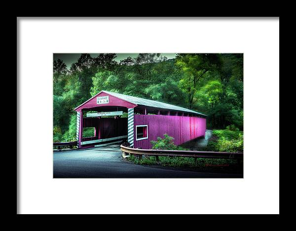 Marvin Spates Framed Print featuring the photograph Hollingshead Coverd Bridge by Marvin Spates
