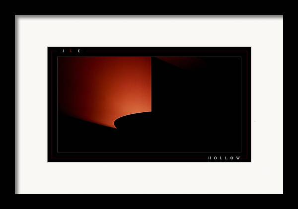 Lamp Framed Print featuring the photograph Hollow by Jonathan Ellis Keys