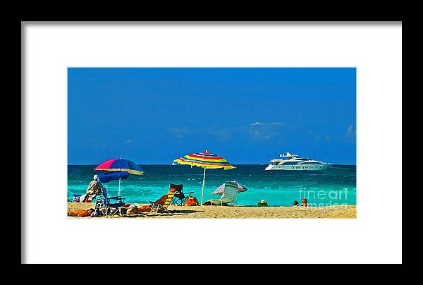 Hollywood Beach Framed Print featuring the photograph Hollywood Beach Florida by Allan Einhorn