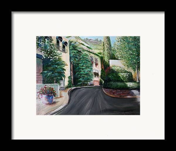 Landscape Framed Print featuring the painting Hollywood Hills by Dyanne Parker