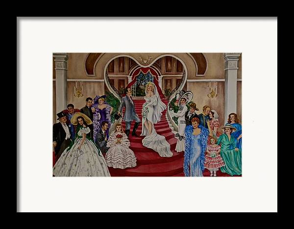 Marilyn Monroe Framed Print featuring the painting Hollywood Legends by Jan Law