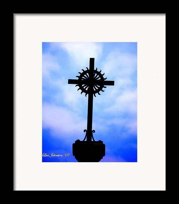 Cross Framed Print featuring the photograph Holy Cross Catholic Church by Lisa Johnston